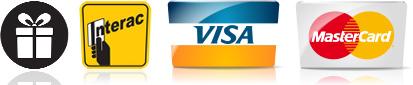 Paiements acceptés: Certificats-cadeaux, Interac, Visa, MasterCard